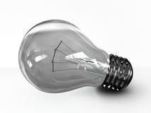 Glühlampe getrennt auf weißem Hintergrund. 3D Lizenzfreies Stockfoto