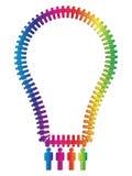 Glühlampe hergestellt von den Leuten Lizenzfreies Stockfoto