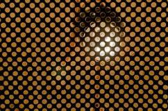 Glühlampe hinter Gittern stockbild