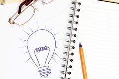 Glühlampe-Hintergrund Stockfoto