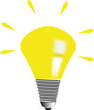 Glühlampe-Idee Stockfotografie