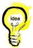 Glühlampe-Idee lizenzfreie abbildung