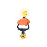 Glühlampe - Idee, kreativ, Technologieikone lizenzfreie abbildung