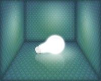 Glühlampe im Kasten Lizenzfreie Stockfotos