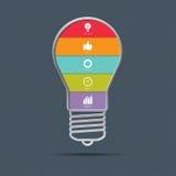 Glühlampe infographics Konzept Lizenzfreie Stockfotografie
