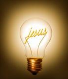 Glühlampe Jesus Stockfotos