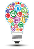 Glühlampe-Konzept des Entwurfes der Versicherung Stockbilder