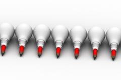 Glühlampe kreativ und Führungskonzept lizenzfreie abbildung