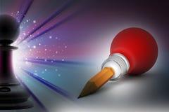 Glühlampe kreativ und Führungskonzept vektor abbildung