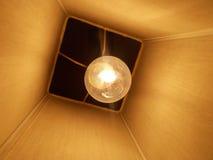 Glühlampe mit Abschluss Stockbild