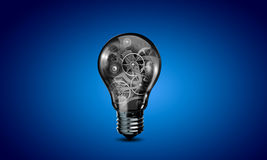 Glühlampe mit Gängen Lizenzfreie Stockfotografie