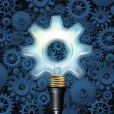 Glühlampe mit Gängen lizenzfreie abbildung