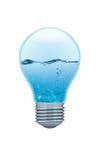 Glühlampe mit Wasser nach innen Lizenzfreie Stockfotografie