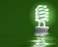 Glühlampe reflektieren sich Lizenzfreie Stockfotos