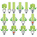 Glühlampe-Satz Eco Stockfoto