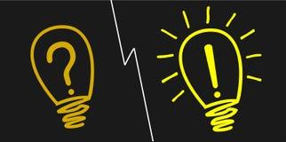 Glühlampe an und abgestellt Lizenzfreies Stockfoto