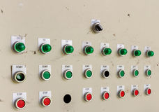 Glühlampe und Schalter Stockbilder