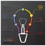 Glühlampe-Verbindungs-Zeitachse-Geschäft Infographic Stockfoto