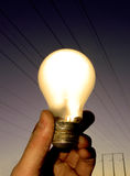 Glühlampe - warme Leuchte lizenzfreie stockfotos