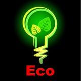 Glühlampe zeigt Tag der Erde und Eco an stock abbildung
