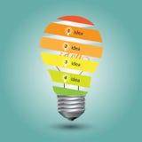 Glühlampeband und Konzeptidee vektor abbildung