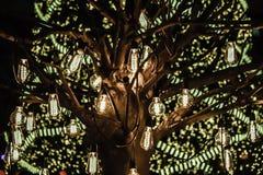 Glühlampedekoration Stockfoto