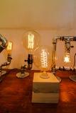 Glühlampedekoration Stockbild
