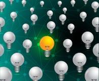 Glühlampedekoration des Ideenkonzepthintergrundes, die Art wiederholt lizenzfreie abbildung
