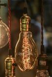 Glühlampedekoration (vorderer Fokus) Stockbild