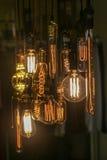 Glühlampedekoration (vorderer Fokus) Lizenzfreies Stockbild