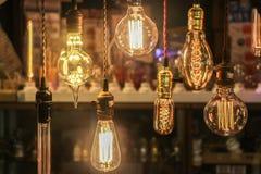 Glühlampedekoration (vorderer Fokus) Lizenzfreie Stockfotos
