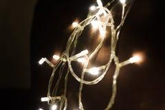 Glühlampeglanz hell mit Kreis bokeh lizenzfreies stockbild