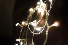 Glühlampeglanz hell mit Kreis bokeh lizenzfreie stockfotos