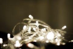 Glühlampeglanz hell mit Kreis bokeh stockbild