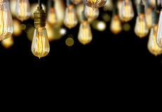 Glühlampehintergrund Stockbilder
