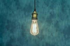 Glühlampehintergrund der Weinlese Lizenzfreies Stockbild