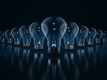 Glühlampekonzept Stockbild