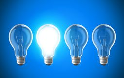 Glühlampelampen Lizenzfreies Stockfoto