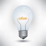 Glühlampemechanismusarbeit für Idee lizenzfreie abbildung