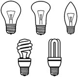 Glühlampen â vektorabbildung Lizenzfreie Stockbilder