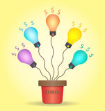 Glühlampen Lizenzfreies Stockfoto