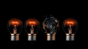 Glühlampen Stockfoto