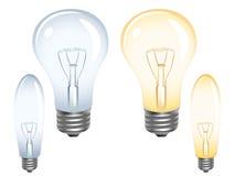 Glühlampen auf Weiß Lizenzfreies Stockbild