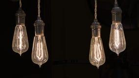 Glühlampen der Weinlese Stockfotografie