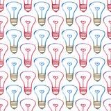 Glühlampen des nahtlosen Musters Lizenzfreie Stockfotografie