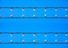 Glühlampen ordneten Bild neu an Lizenzfreie Stockfotografie