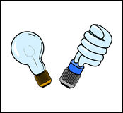 Glühlampen, Vektor Lizenzfreie Stockfotos