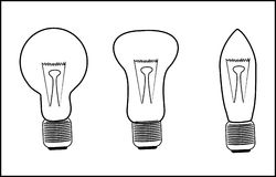Glühlampen, Vektor Lizenzfreie Stockbilder