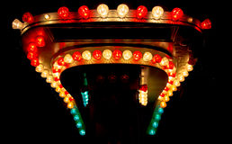 Glühlampen vom Funfair lizenzfreie stockbilder