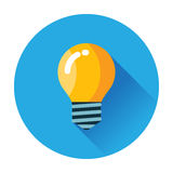 Glühlampenikone Lizenzfreies Stockfoto
